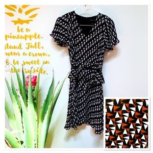 Duro Olowu Brown Printed Knee Length Dress Size 6